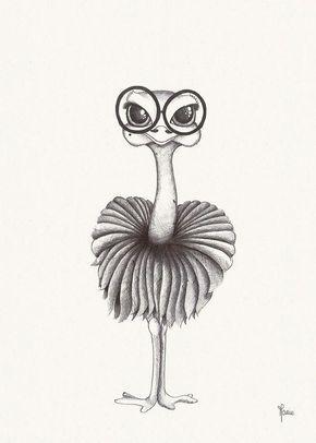 Легкие и простые картинки животных для срисовки - подборка для детей 2