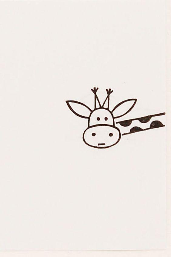 Легкие и простые картинки животных для срисовки - подборка для детей 9