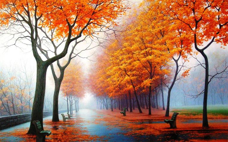 Осеннее утро, утро осенью - красивые и невероятные картинки 10