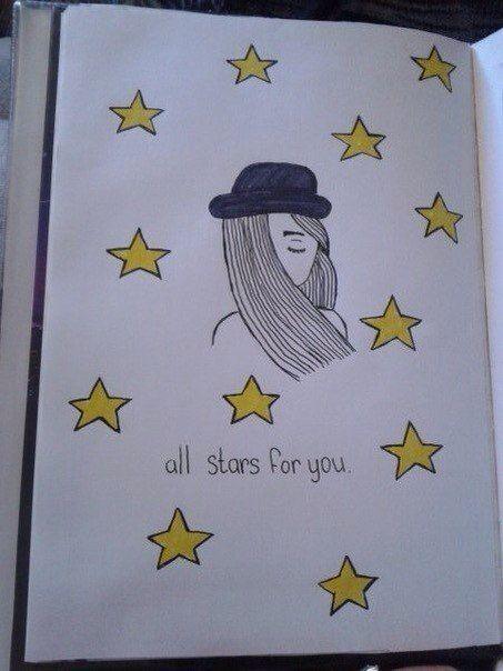 Прикольные и простые картинки для срисовки Звезда, Звезды - сборка 14
