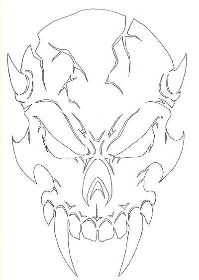 Рисунки и картинки для срисовки череп, черепок - самые прикольные 13