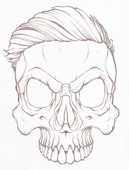 Прикольные рисунки черепов карандашом