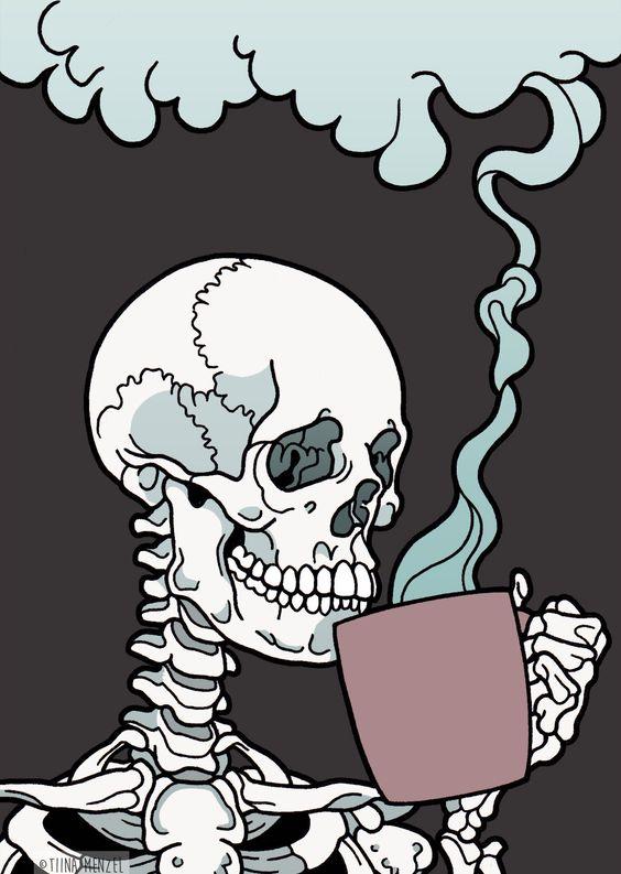 Рисунки и картинки для срисовки череп, черепок - самые прикольные 8
