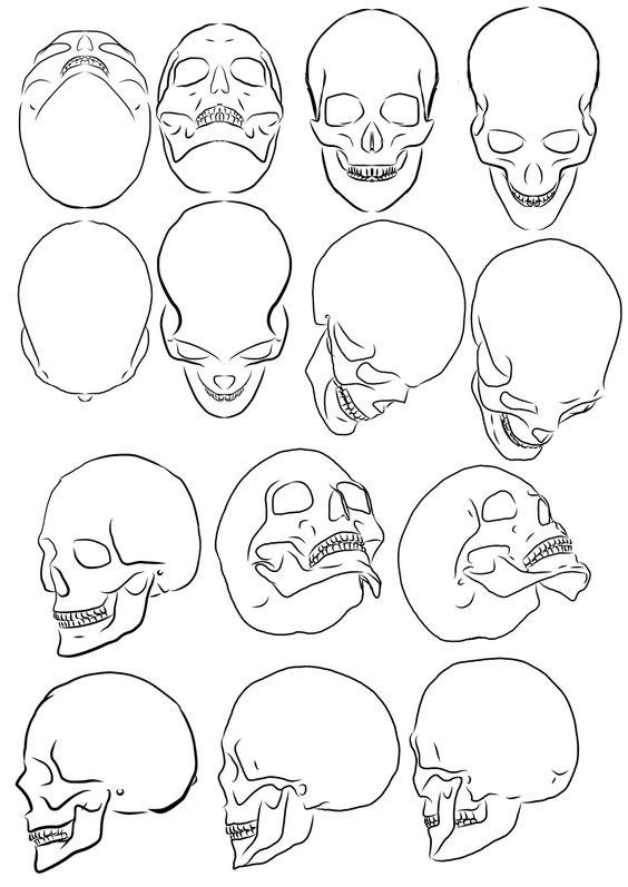 Рисунки и картинки для срисовки череп, черепок - самые прикольные 9