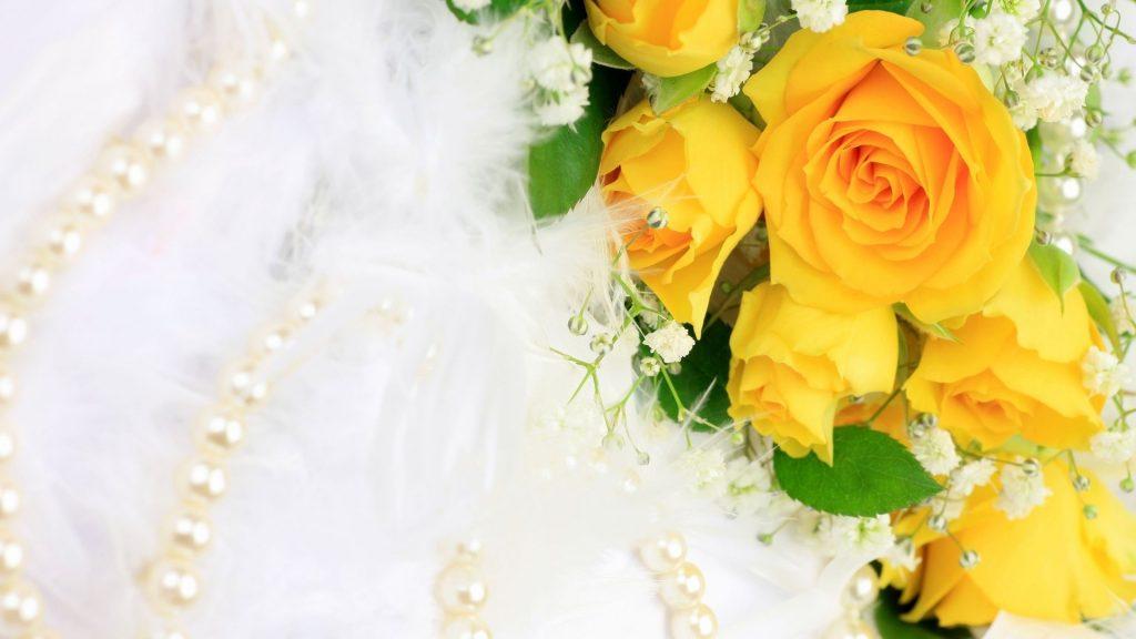 Удивительные картинки на рабочий стол Желтые розы - подборка 10