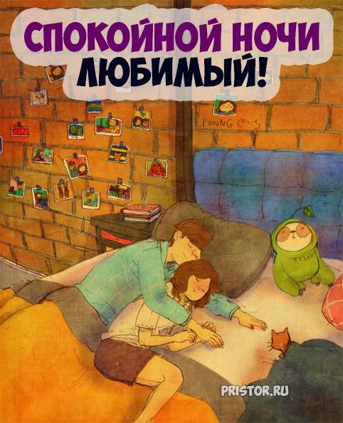 Доброй ночи дорогой - красивые картинки и открытки на ночь 7