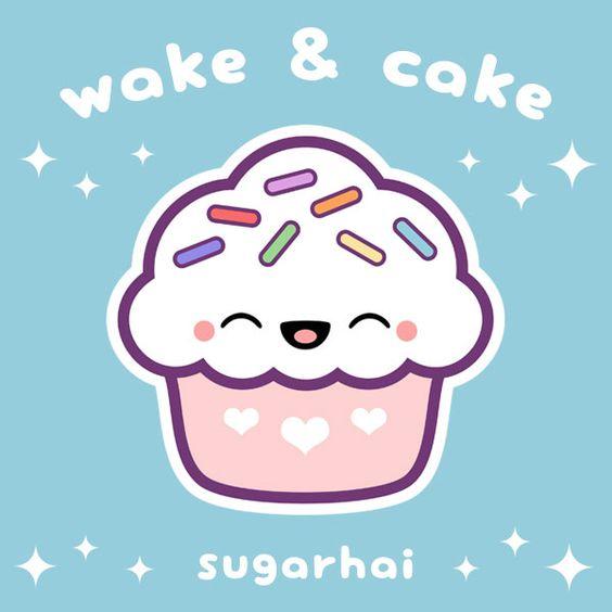 Красивые и милые картинки кексов, пирожных для срисовки 6