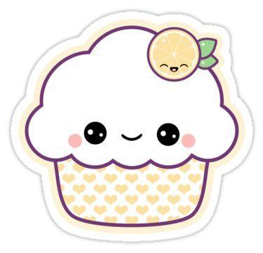 Красивые и милые картинки кексов, пирожных для срисовки 7