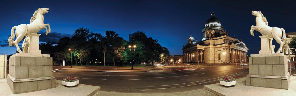 Красивые и необычные панорамные фотографии Санкт-Петербурга 8