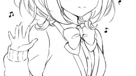 Красивые картинки аниме девушек для срисовки карандашом - сборка 15