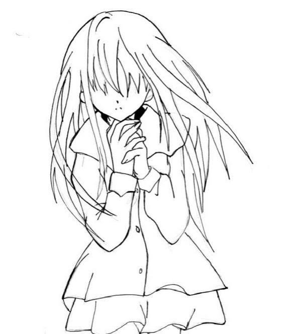 Красивые картинки аниме девушек для срисовки карандашом - сборка 17
