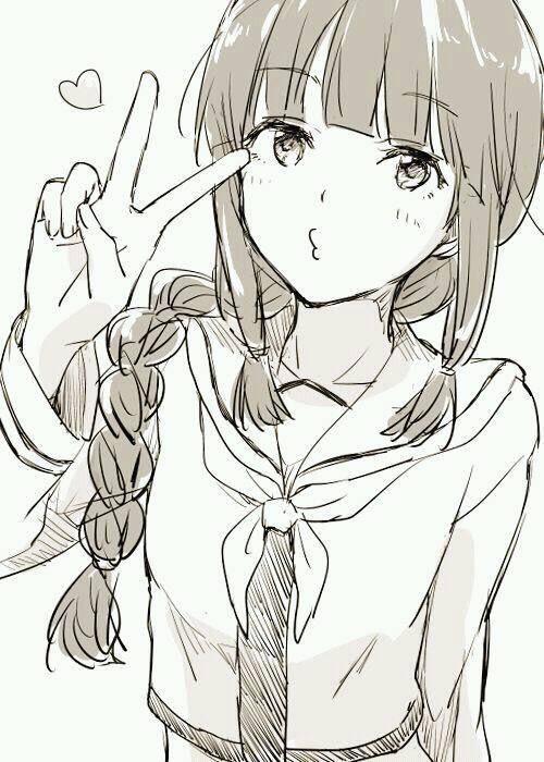 Красивые картинки аниме девушек для срисовки карандашом - сборка 19