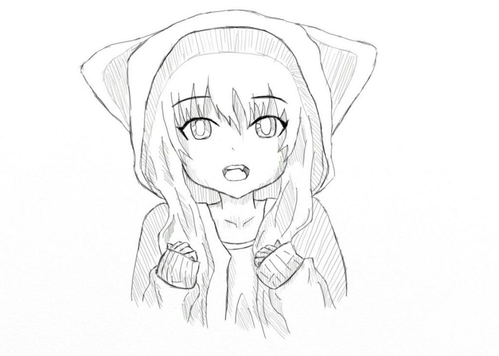 Красивые картинки аниме девушек для срисовки карандашом - сборка 20
