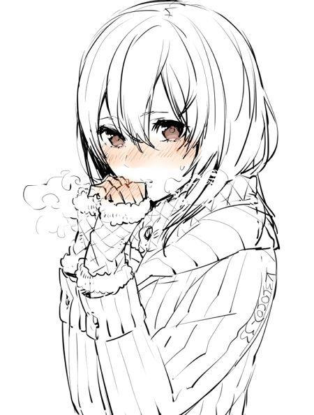 Красивые картинки аниме девушек для срисовки карандашом - сборка 5