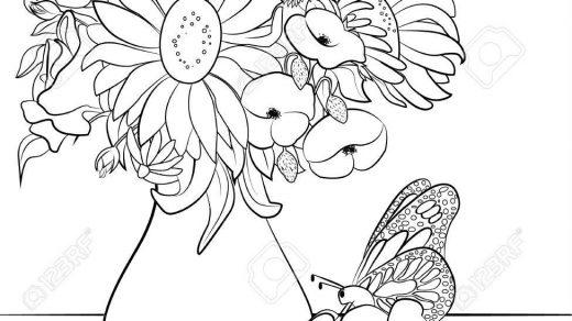 Красивые картинки вазы с цветами и без для срисовки - подборка 3