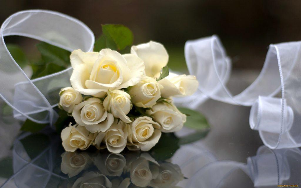Красивые картинки цветов белые розы, удивительные букеты 4