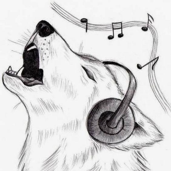 Красивые, прикольные картинки для срисовки Музыка - подборка 1