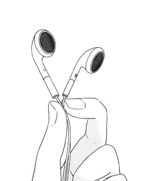 Красивые, прикольные картинки для срисовки Музыка - подборка 6