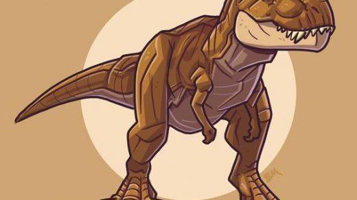 Очень красивые картинки динозавров для срисовки - подборка 22
