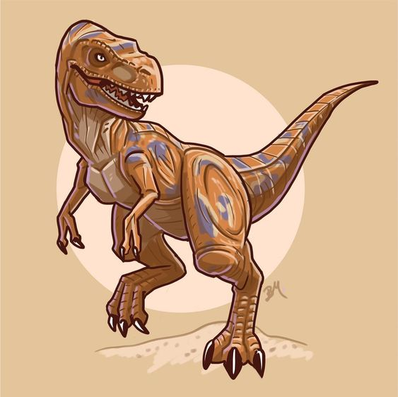 Очень красивые картинки динозавров для срисовки - подборка 4