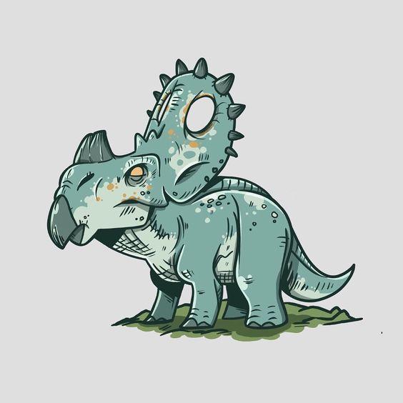 Очень красивые картинки динозавров для срисовки - подборка 9