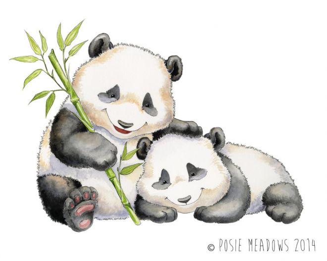 Панды очень красивые и прикольные картинки, арты, фото - подборка 12