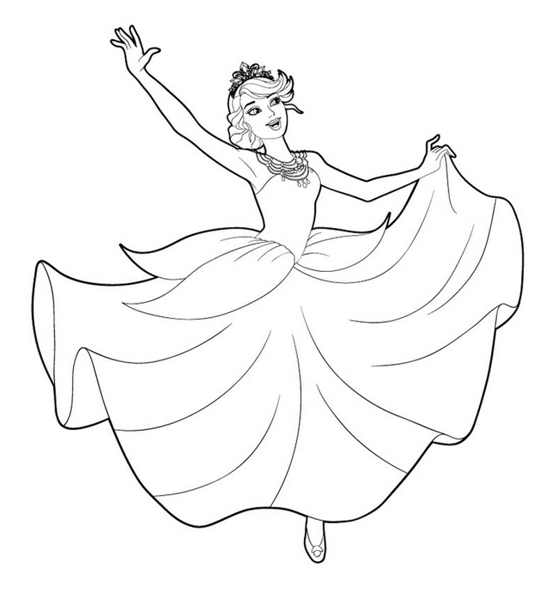 Прикольные и красивые картинки Барби для срисовки для детей 15
