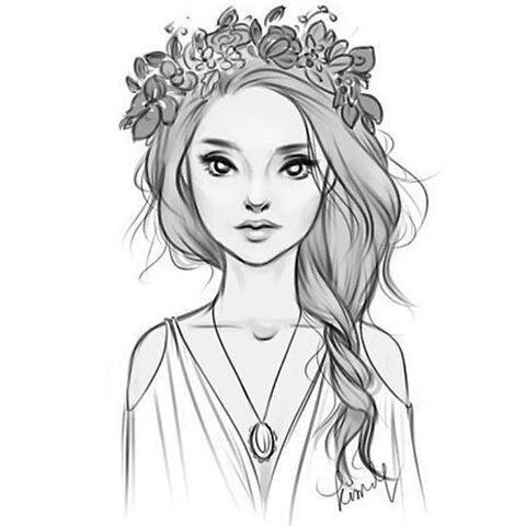 Прикольные и милые картинки, рисунки срисовки для девочек - сборка 6