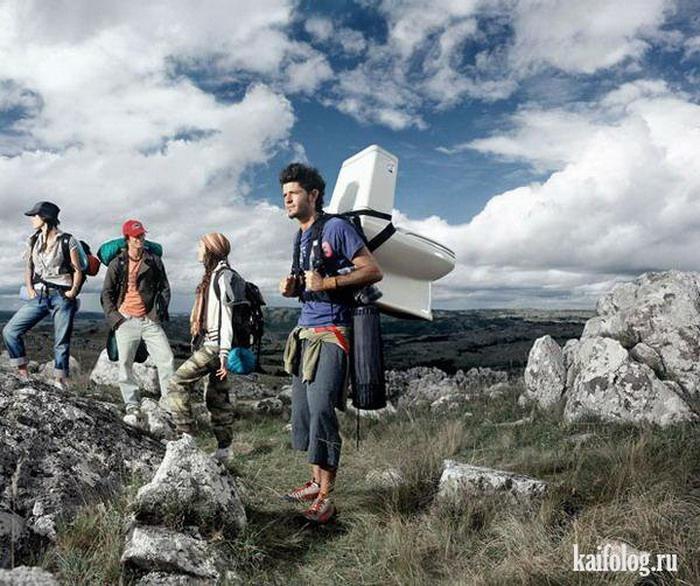 Смешные и веселые картинки про туристов и туризм - подборка 12