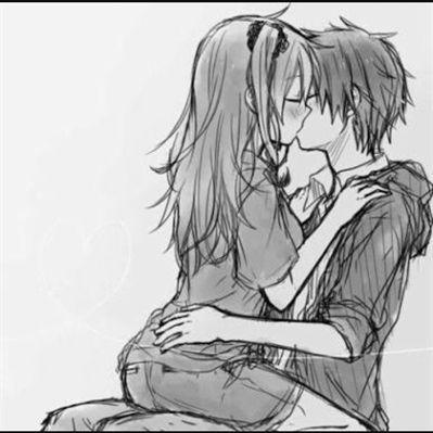Красивые и милые рисунки карандашом для срисовки поцелуи 1