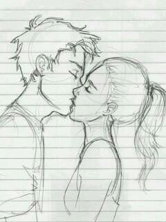 Красивые и милые рисунки карандашом для срисовки поцелуи 9