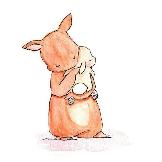 Красивые и простые рисунки, картинки кроликов для срисовки - сборка 6
