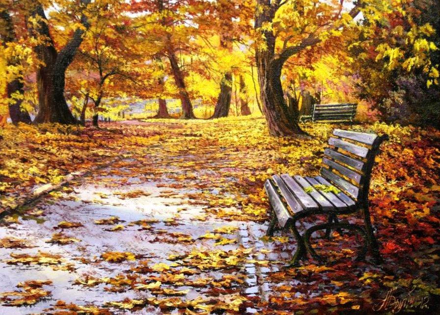 Красивые и удивительные картинки осень в парке - подборка фото 13