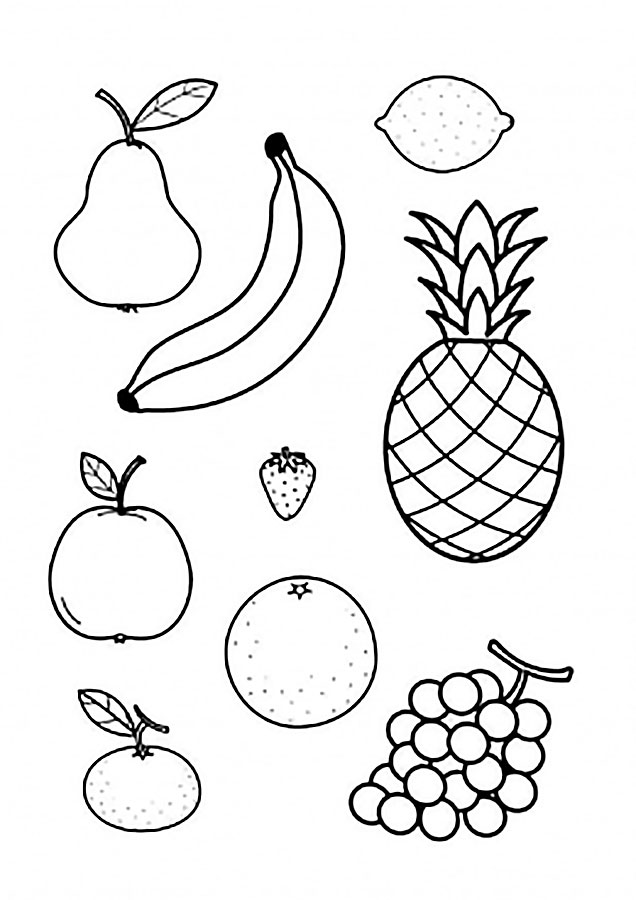 Овощи фрукты картинки распечатать