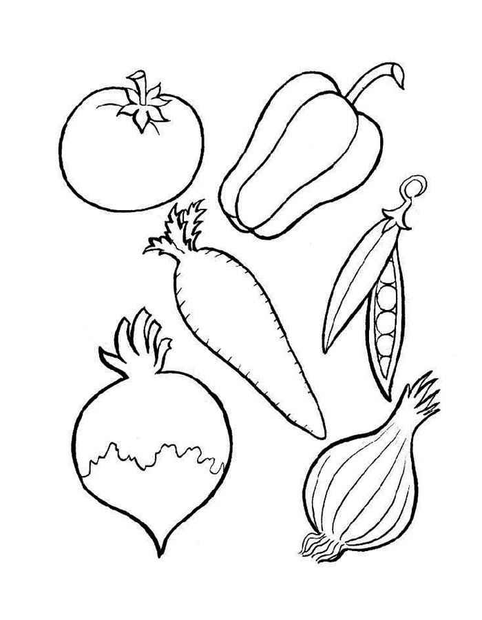 Красивые картинки для раскраски фрукты и овощи - подборка 13