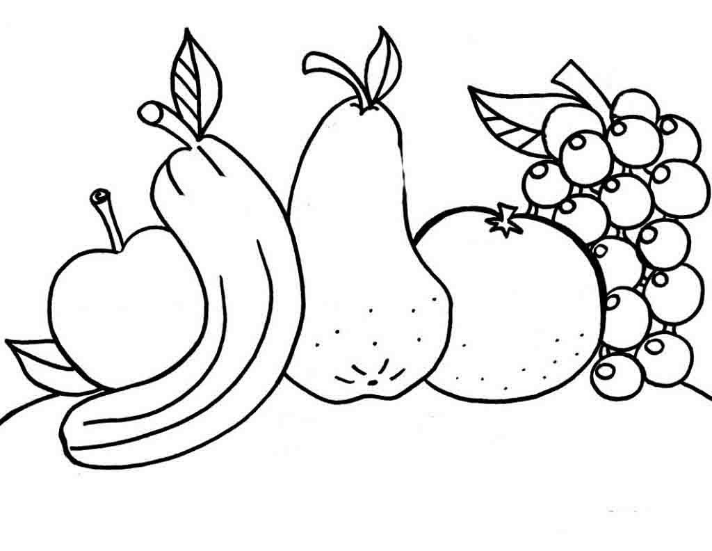 Красивые картинки для раскраски фрукты и овощи - подборка 15