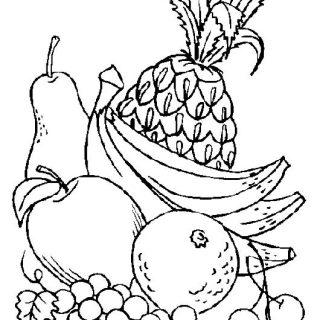 Красивые картинки для раскраски фрукты и овощи - подборка 4