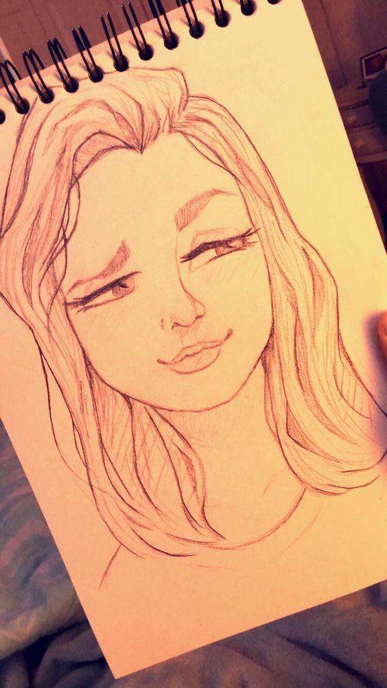 Красивые картинки и рисунки для срисовки лицо девушки - подборка 1