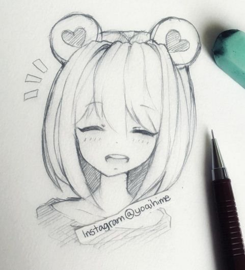 Красивые картинки и рисунки для срисовки лицо девушки - подборка 18