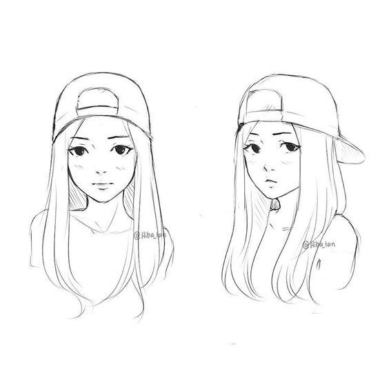 Красивые картинки и рисунки для срисовки лицо девушки - подборка 6
