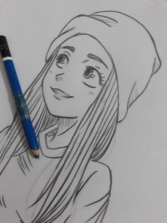 Красивые картинки и рисунки для срисовки лицо девушки - подборка 7