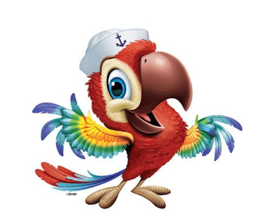 Красивые картинки и рисунки попугаев для срисовки для детей 14