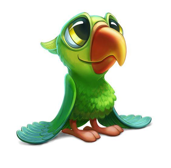Красивые картинки и рисунки попугаев для срисовки для детей 2