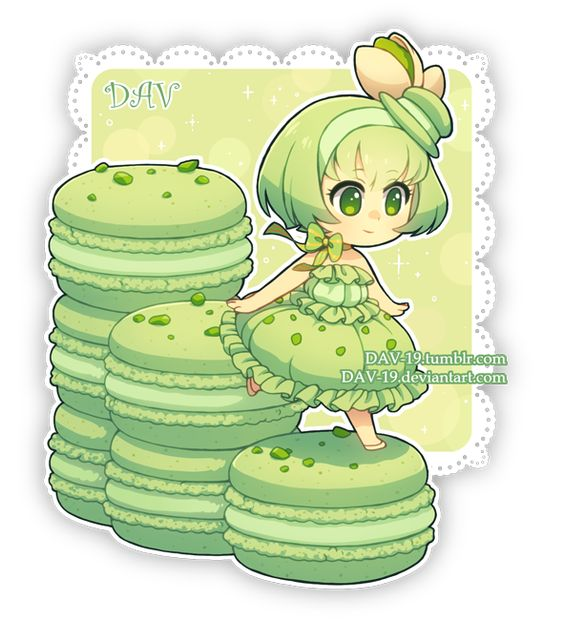 Няшные картинки сладости и десерты - картинки, рисунки для девочек 12