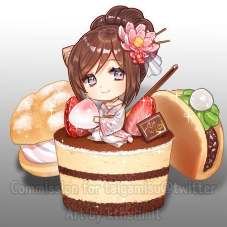 Няшные картинки сладости и десерты - картинки, рисунки для девочек 16