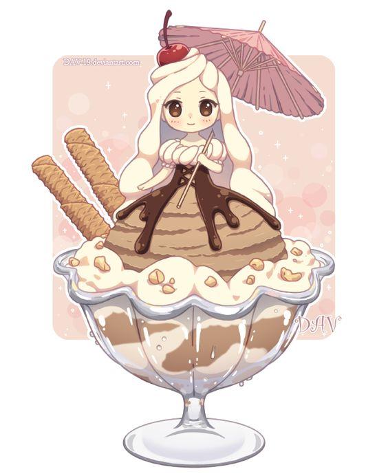 Няшные картинки сладости и десерты - картинки, рисунки для девочек 9