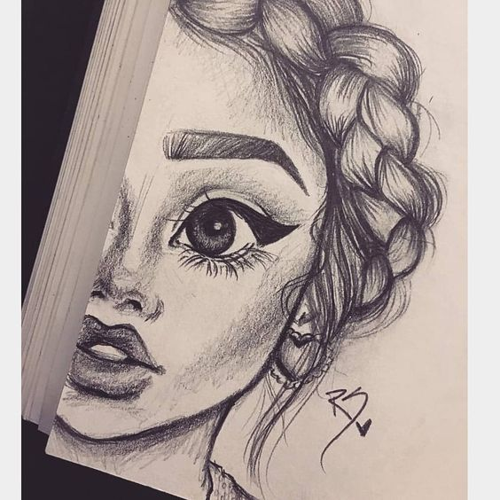 Очень милые и прикольные картинки для девочек в качестве срисовки 7