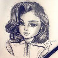 Очень милые и прикольные картинки для девочек в качестве срисовки 8