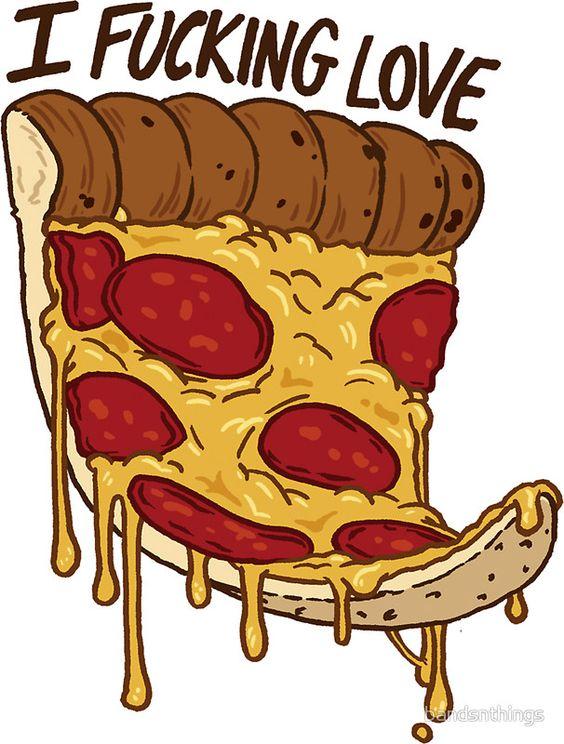 Прикольные и необычные картинки пиццы для срисовки - сборка 12