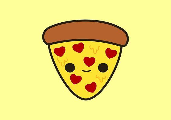 Прикольные и необычные картинки пиццы для срисовки - сборка 3